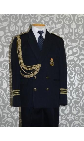 Traje de Comunión almirante ancla dorada