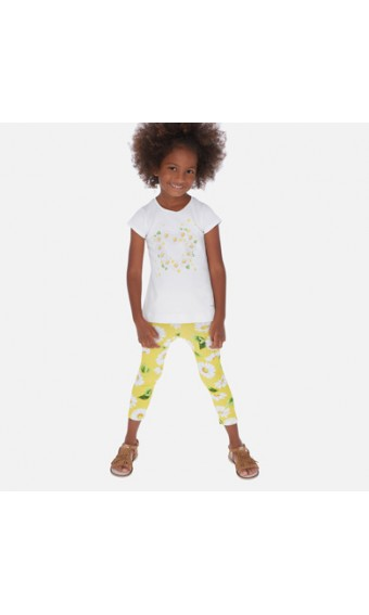 CONJ. LEGGINGS MAYORAL ESTAMPADO MARGARITAS